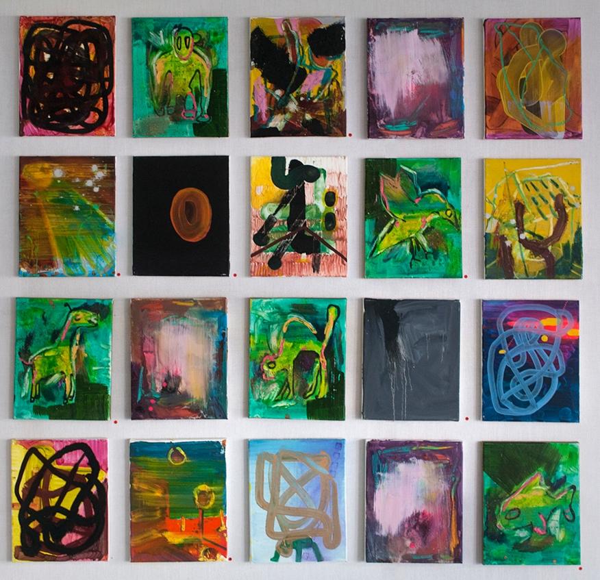 2014/15, mixedmedia, canvas, 15 pieces à 20 x 30 cm