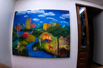 O mundo, (in Process) (Do ponto de vista da Terra quem gira é o sol)170 x 130 cm, oil, canvas