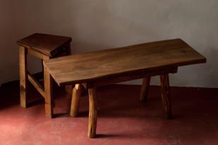 2014, Restholz und Schrauben, 40x120x38cm, Bank