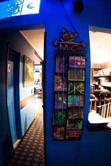 Exposição «Até» no Café Savana, Brasília, DF, Brasil. 7 – 28 Maio 2016 // Free Art-Postcards, PM Painting