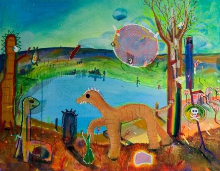 Pitango, 2015 (Animais precisam de amor) 90 x 70 cm, Mixedmedia, Canvas, patrikmuchenberger.com