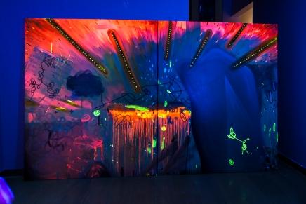 Beleza pura(o prazer das cores)260 x 170 cm, oil, canvas, blacklight