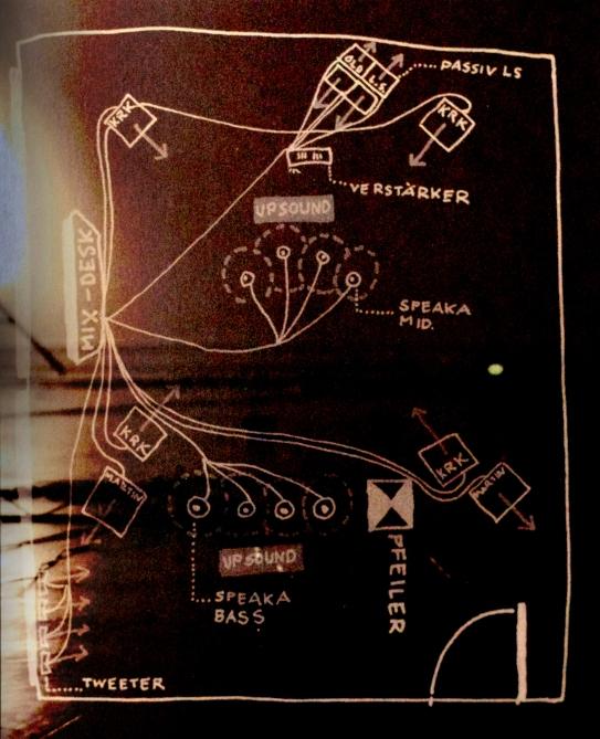 2005 «Doors» Sound im Raum, Soundinstallation, Sentimatt Project management: Prof. Franziska Lingg University of Applied Sciences an Arts, Lucerne CH Setup-Map