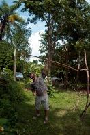 2014 Artist in residence,Alto Paraiso de Goiás, Brazil, (Professor shoots the arrow)
