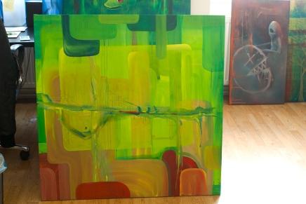 1 (Reclaim the Jungle), Oil, Canvas, 100 x 100 cm